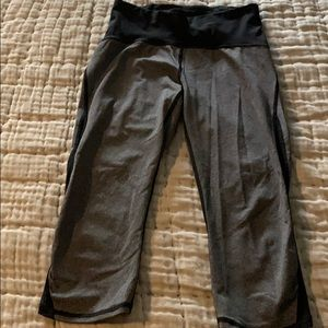 Gray and black cropped lulu lemon leggings